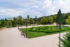 Parque de la altiplanicie en Baku Imagenes de archivo
