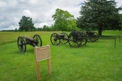 Parque de la artillería - Palacio de Justicia histórico de Appomattox foto de archivo libre de regalías
