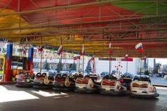 Parque de la atracción del coche durante celebraciones del Año Nuevo Foto de archivo