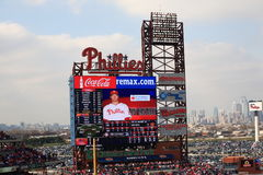 Parque de la batería de los ciudadanos - Philadelphia Phillies imagen de archivo