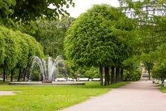 Parque 2 de la catedral de Smolny Foto de archivo