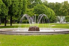 Parque de la catedral de Smolny Fotografía de archivo