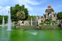 Parque de la ciudad, Barcelona, España Foto de archivo libre de regalías