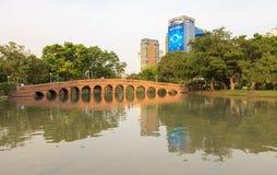 Parque de la ciudad, parque de Chatuchak del parque público Fotos de archivo