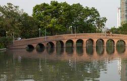 Parque de la ciudad, parque de Chatuchak del parque público Foto de archivo