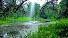 Parque de la ciudad de Czestochowa, Polonia almacen de video
