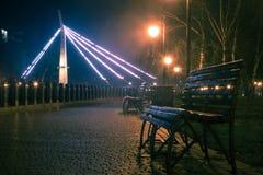 Parque de la ciudad de la noche Imagen de archivo
