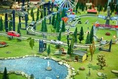Parque de la ciudad de Maquette Foto de archivo
