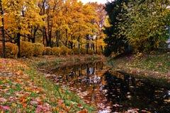 Parque de la ciudad del paisaje del otoño Imagen de archivo