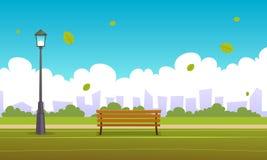 Parque de la ciudad del verano stock de ilustración