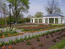 Parque de la ciudad en primavera Imagenes de archivo