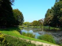 Parque de la ciudad en Varsovia - Polonia Imagen de archivo libre de regalías