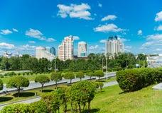 Parque de la ciudad en Yekaterinburg Imagen de archivo libre de regalías