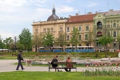 Parque de la ciudad en Zagreb imagenes de archivo