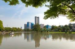 Parque de la ciudad, parque público Imagen de archivo
