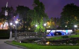 Parque de la colina del bastión en Riga fotografía de archivo libre de regalías