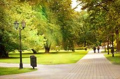 Parque de la colina del bastión en Riga Foto de archivo libre de regalías