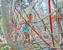 Parque de la cuerda de los niños Fotos de archivo