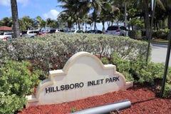 Parque de la entrada de Hillsboro Imagen de archivo libre de regalías
