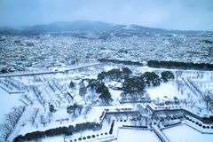 Parque de la estrella en invierno Foto de archivo libre de regalías
