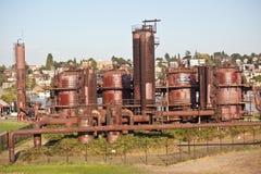 Parque de la fábrica de gas Foto de archivo libre de regalías