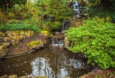 Parque de la flor de Keukenhof en Países Bajos Elementos del diseño del parque Foto de archivo libre de regalías