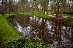 Parque de la flor de Keukenhof en Países Bajos Elementos del diseño del parque Imagenes de archivo