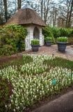Parque de la flor de Keukenhof en Países Bajos Elementos del diseño del parque Imágenes de archivo libres de regalías