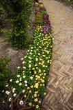 Parque de la flor de Keukenhof en Países Bajos Elementos del diseño del parque Fotografía de archivo