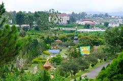 Parque de la flor en la ciudad de Dalat, Vietnam Fotografía de archivo