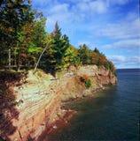 Parque de la isla de Presque - Michigan foto de archivo