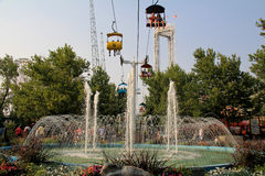 Parque de la laguna: Paseo del cielo Fotografía de archivo