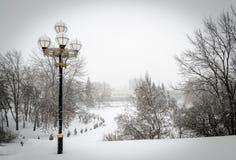 Parque de la nieve Fotografía de archivo libre de regalías