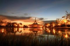 Parque de la noche Imagen de archivo