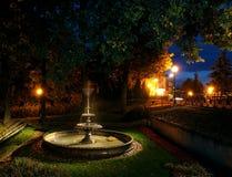 Parque de la noche Fotos de archivo