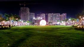 Parque de la noche Imagen de archivo libre de regalías
