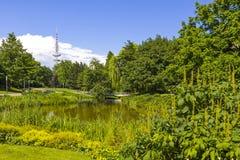 Parque de la O.N.U Blomen de Planten en la ciudad de Hamburgo, Alemania fotografía de archivo