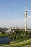 Parque de la Olympia de Munich Foto de archivo