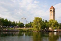Parque de la orilla del río de Spokane Washinton Imagenes de archivo