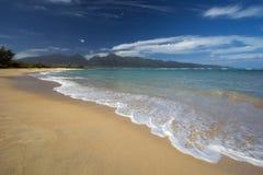 Parque de la playa de Kanaha, orilla del norte, Maui, Hawaii fotografía de archivo libre de regalías