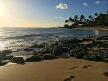 Parque de la playa de Poipu Fotografía de archivo
