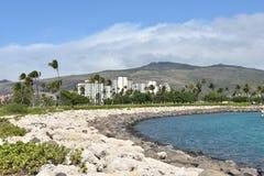 Parque de la playa del knock-out-Olina hawaii imagen de archivo