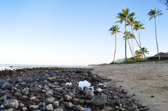 Parque de la playa de Hauula Imágenes de archivo libres de regalías