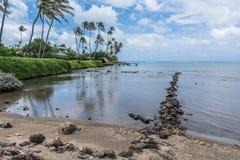Parque de la playa de Wailupe, Oahu, Hawaii fotos de archivo libres de regalías