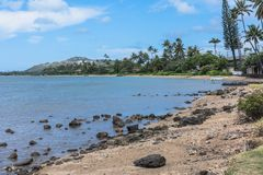 Parque de la playa de Wailupe, Oahu, Hawaii foto de archivo libre de regalías