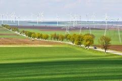 Parque de la turbina de viento foto de archivo