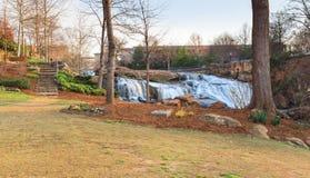 Parque de las caídas en Reedy River Greenville South Carolina Foto de archivo