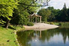 Parque de Lazienki imagem de stock