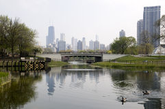 Parque de Lincoln en Chicago Fotografía de archivo