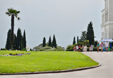 Parque de Livadia. El ajardinar. Yalta. Crimea. Ucrania. Fotos de archivo